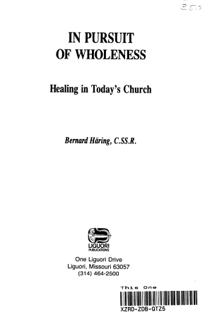 In Pursuit of Wholeness PDF