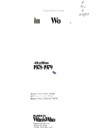 Who s Who in the World  1978 1979 PDF