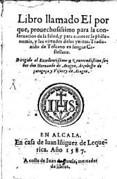 Libro llamado il Porque ...