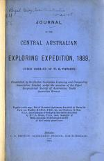 Journal of the Central Australian Exploring Expedition ...