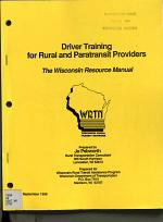 Driver Training for Rural and Paratransit Providers