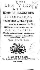 Les vies des hommes illustres de Plutarque: Volume9