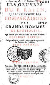 Les Comparaisons des grands hommes de l'antiquité qui ont le plus excellé dans les belles-lettres