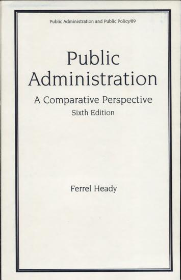 Public Administration  Sixth Edition  A Comparative Perspective  PDF