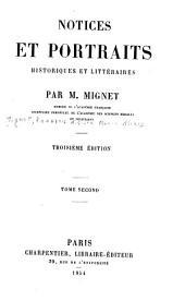 Notices historiques: Le comte Siméon. De Sismondi. Charles Comte. Ancillon. Bignon. Rossi. Cabanis. Droz