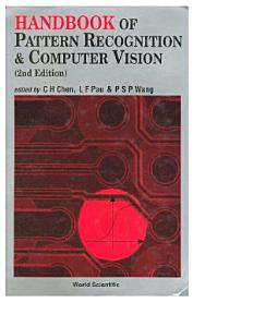 Handbook Of Pattern Recognition And Computer Vision  2nd Edition