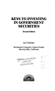 Keys to Investing in Government Securities PDF