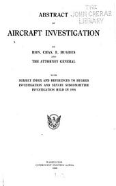 Abstract of Aircraft Investigation