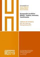 Bezugspunkte beruflicher Bildung   Tradition  Innovation  Transformation PDF