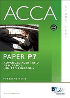 ACCA Paper P7   Advanced Audit and Assurance  GBR  Study Text PDF