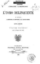 L'uomo Delinquente: Volume 2