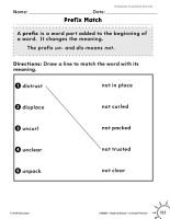 Vocabulary Acquisition and Use  Prefixes and Suffixes Practice PDF