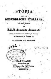 Storia delle repubbliche italiane dei secoli di mezzo: Volume 3