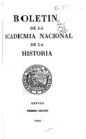 Bolet  n de la Academia Nacional de la Historia PDF