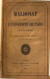 Maldonat et l'Université de Paris au XVIe siècle