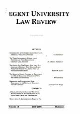 Regent University law review PDF