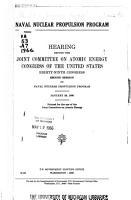 Naval Nuclear Propulsion Program PDF