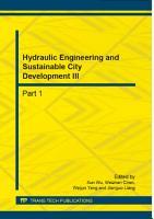 Hydraulic Engineering And Sustainable City Development Iii