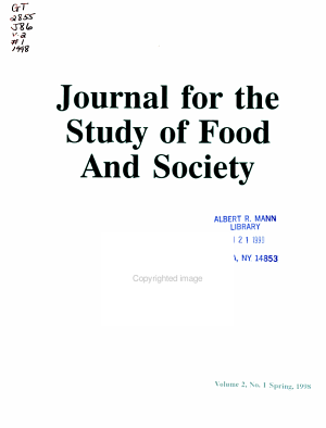 Journal for the Study of Food and Society PDF