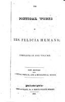 The Poetical Works of Mrs  Felicia Hemans PDF