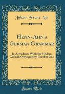 Henn Ahn s German Grammar PDF