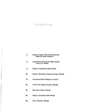 Moody s International Bond Review PDF