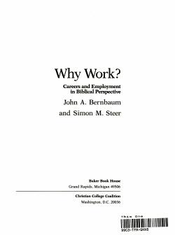 Why Work  PDF