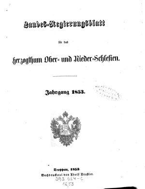 Landes Regierungsblatt f  r das Herzogthum Ober  und Nieder Schlesien PDF