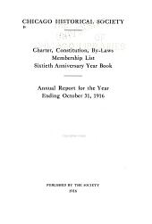Charter, Constitution, By-laws, Membership List, Annual Report