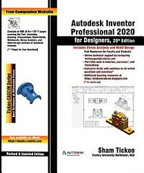Autodesk Inventor Professional 2020 for Designers  20th Edition PDF
