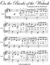 On the Banks of the Wabash - Easy Piano Sheet Music