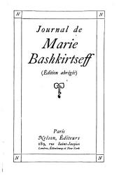 Journal de Marie Bashkirtseff: Volume 1