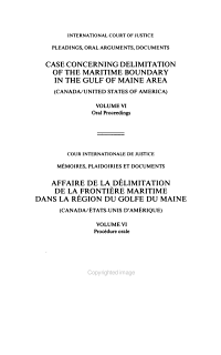 Case Concerning Delimitation of the Maritime Boundary in the Gulf of Maine Area PDF