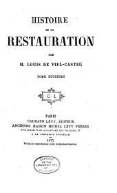 Histoire de la restauration: Volume12