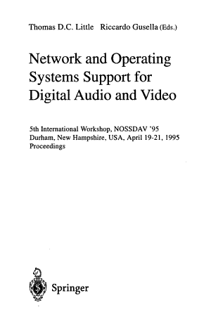 Network and Operating System Support for Digital Audio and Video PDF