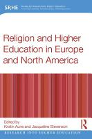 Religion and Higher Education in Europe and North America PDF