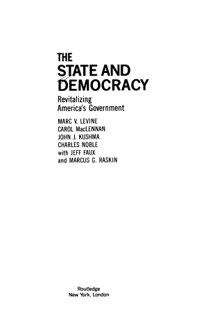 The State and Democracy PDF