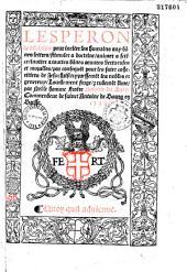L'Esperon de discipline pour inciter les humains aux bones lettres... lourdement forge et rudement lime par... Antoine du Saix...