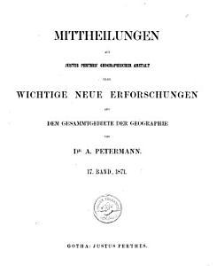 Petermanns geographische Mitteilungen PDF