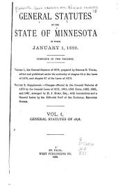 The general statutes of 1878, prepared by George B. Young, edited and published under the authority of chapter 67 of the laws of 1878, and chapter 67 of the laws of 1879