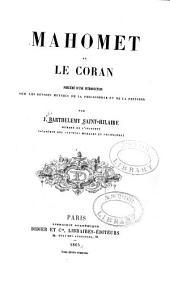 Mahomet et le Coran: précédé d'une introduction sur les devoirs mutuels de la philosophie et de la religion