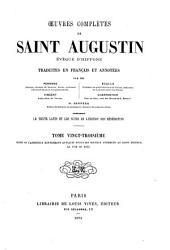 Œuvres complètes de Saint Augustin: Volume23