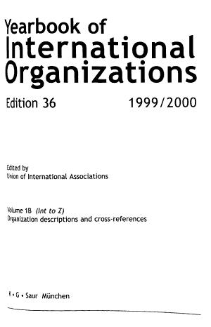 Yearbook of International Organizations PDF