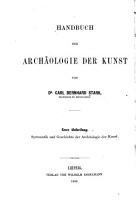 Handbuch der Arch  ologie der Kunst PDF