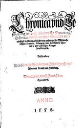 Dennmärkische Schwedische und Norwägische Chronica