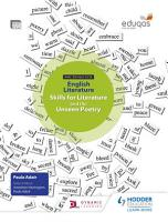 WJEC Eduqas GCSE English Literature Skills for Literature and the Unseen Poetry Student Book PDF