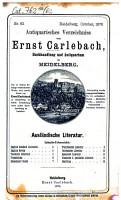 Antiquarisches B  cherverzeichnis PDF