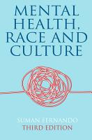 Mental Health  Race and Culture PDF
