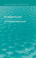 Routledge Revivals Environmental Studies Bundle