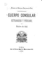 Cuerpo consular extranjero y peruano, octubre de 1895